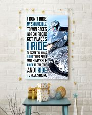 I DON'T RIDE MY SNOWMOBILE TO WIN RACES 11x17 Poster lifestyle-holiday-poster-3