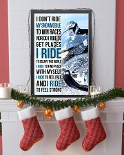 I DON'T RIDE MY SNOWMOBILE TO WIN RACES 11x17 Poster lifestyle-holiday-poster-4