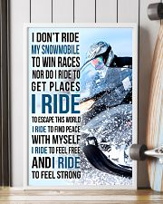 I DON'T RIDE MY SNOWMOBILE TO WIN RACES 11x17 Poster lifestyle-poster-4