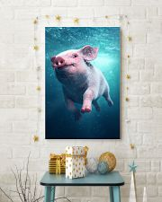 Pig - Pig  swim in sea Poster - TL 16x24 Poster lifestyle-holiday-poster-3