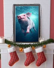 Pig - Pig  swim in sea Poster - TL 16x24 Poster lifestyle-holiday-poster-4