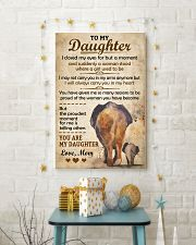 Elephant - To my Daughter Art Vintage Poster 11x17 Poster lifestyle-holiday-poster-3