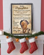 Elephant - To my Daughter Art Vintage Poster 11x17 Poster lifestyle-holiday-poster-4
