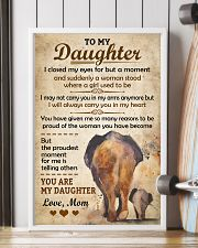 Elephant - To my Daughter Art Vintage Poster 11x17 Poster lifestyle-poster-4