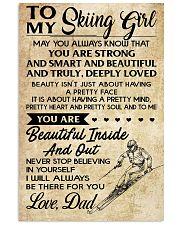 TO MY SKIING GIRL - DAD 16x24 Poster front