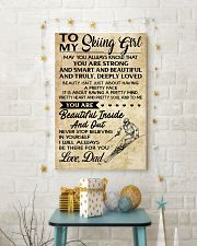 TO MY SKIING GIRL - DAD 16x24 Poster lifestyle-holiday-poster-3