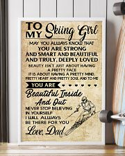 TO MY SKIING GIRL - DAD 16x24 Poster lifestyle-poster-4