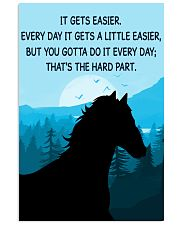 Horse It Gets Easier Poster 11x17 Poster front
