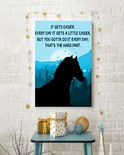 Horse It Gets Easier Poster 11x17 Poster lifestyle-holiday-poster-3