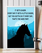 Horse It Gets Easier Poster 11x17 Poster lifestyle-poster-4