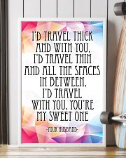 YOUR HUSBAND-I'D TRAVEL THICK AND WITH YOU 16x24 Poster lifestyle-poster-4