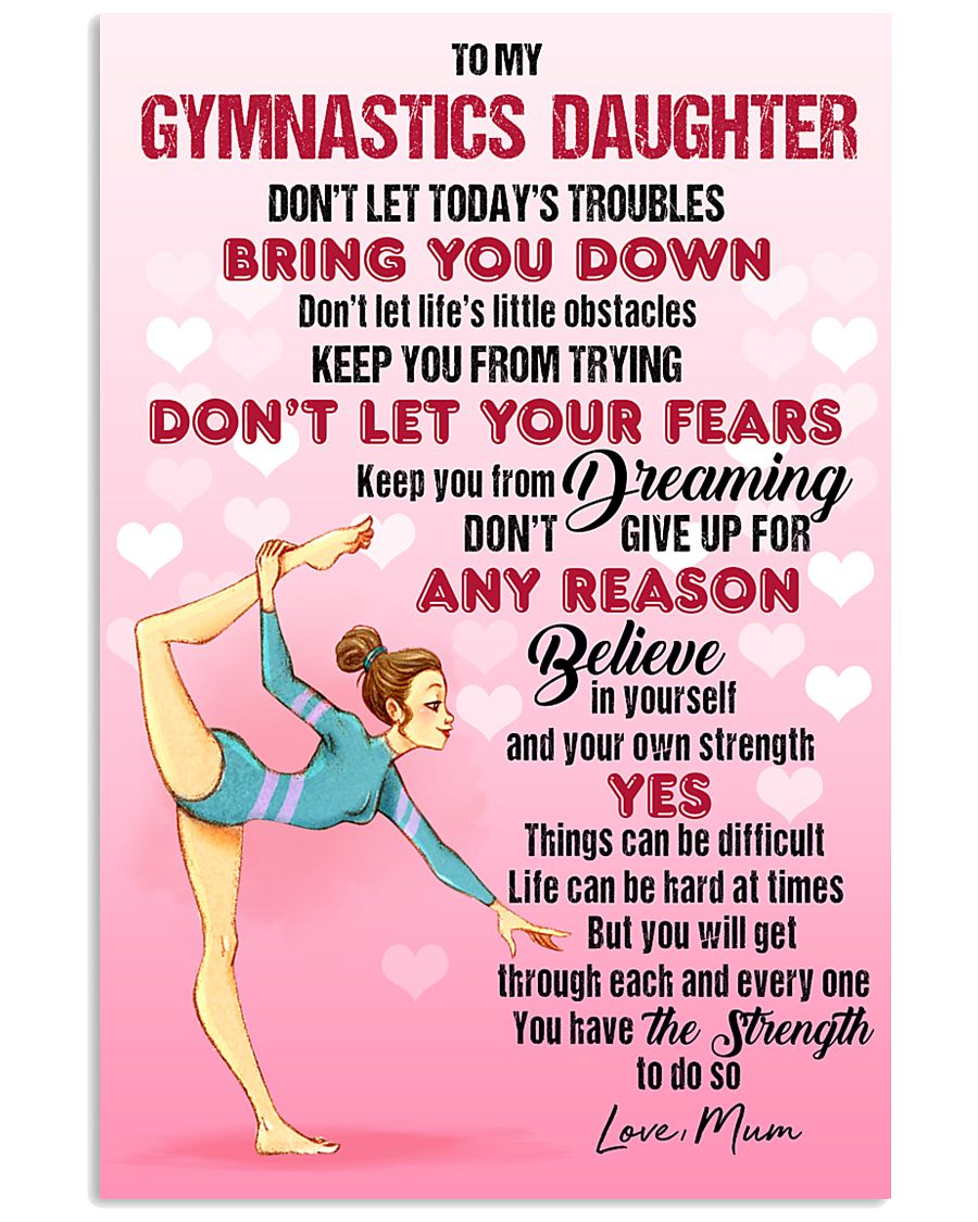 GYMASTICS - DON'T LET TODAY'S TROUBLES POSTER 11x17 Poster