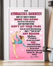 GYMASTICS - DON'T LET TODAY'S TROUBLES POSTER 11x17 Poster lifestyle-poster-4