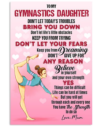 GYMASTICS - DON'T LET TODAY'S TROUBLES POSTER