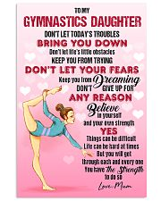 GYMASTICS - DON'T LET TODAY'S TROUBLES POSTER 24x36 Poster front