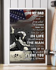 jiu jitsu - to my dad so much of me poster - SR 11x17 Poster lifestyle-poster-4