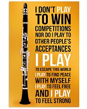 CLARINET - I DON'T PLAY TO WIN COMPETITIONS 11x17 Poster front