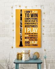 CLARINET - I DON'T PLAY TO WIN COMPETITIONS 11x17 Poster lifestyle-holiday-poster-3