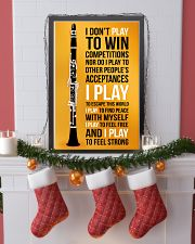 CLARINET - I DON'T PLAY TO WIN COMPETITIONS 11x17 Poster lifestyle-holiday-poster-4