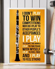CLARINET - I DON'T PLAY TO WIN COMPETITIONS 11x17 Poster lifestyle-poster-4