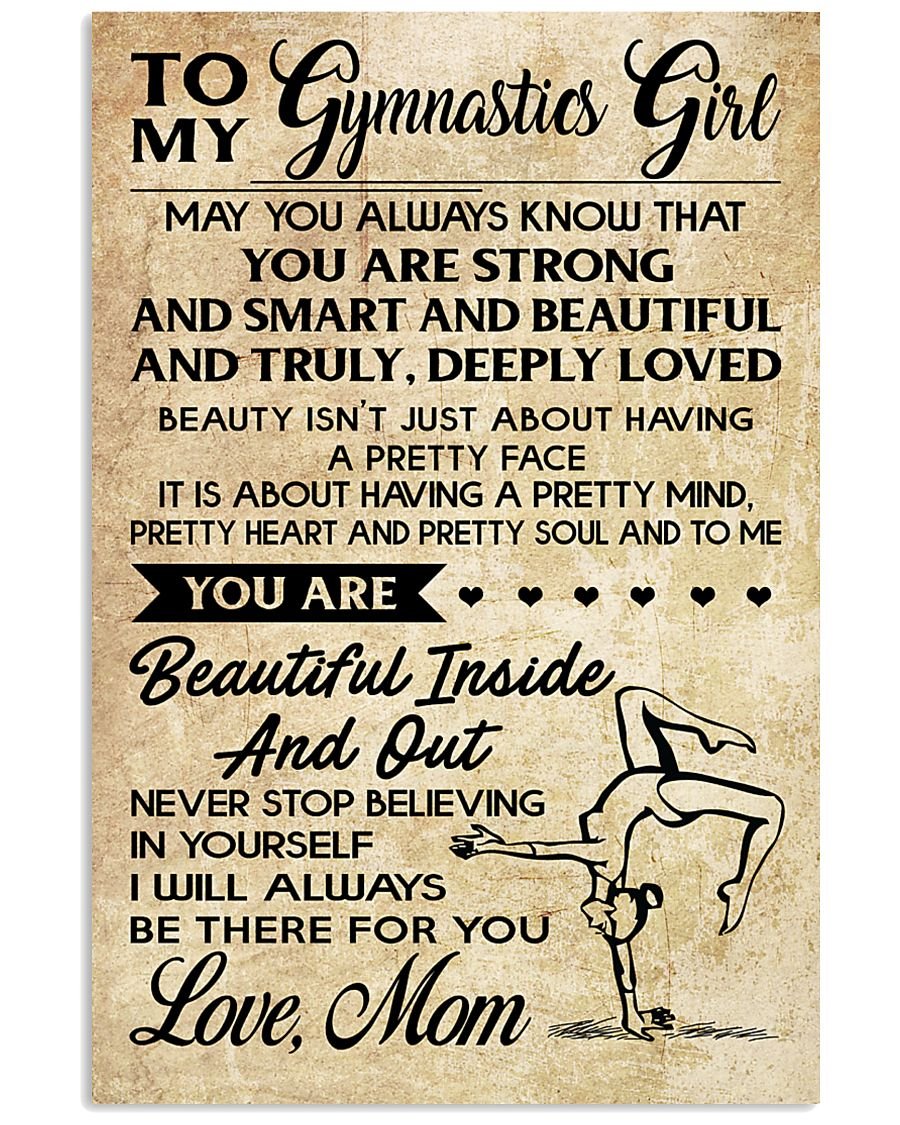 TO MY GYMNASTICS GIRL - LOVE MOM 11x17 Poster