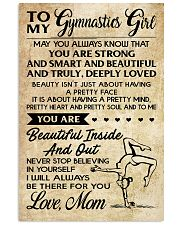 TO MY GYMNASTICS GIRL - LOVE MOM 11x17 Poster front