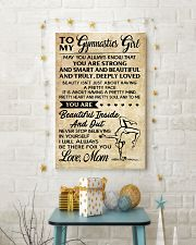 TO MY GYMNASTICS GIRL - LOVE MOM 11x17 Poster lifestyle-holiday-poster-3