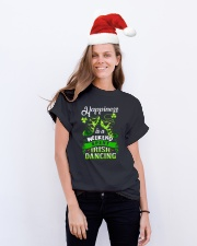 Happiness - Irish Dancing Classic T-Shirt lifestyle-holiday-crewneck-front-1