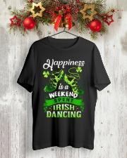 Happiness - Irish Dancing Classic T-Shirt lifestyle-holiday-crewneck-front-2