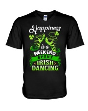 Happiness - Irish Dancing V-Neck T-Shirt thumbnail