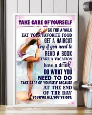 Take care of yourself - GYMNASTICS 11x17 Poster lifestyle-poster-4