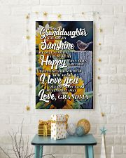 to my granddaughter you are my sunshine poster 11x17 Poster lifestyle-holiday-poster-3