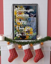 to my granddaughter you are my sunshine poster 11x17 Poster lifestyle-holiday-poster-4
