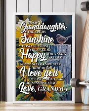 to my granddaughter you are my sunshine poster 11x17 Poster lifestyle-poster-4