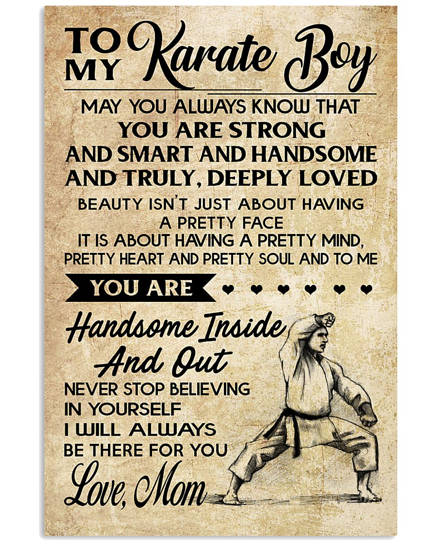 TO MY KARATE BOY - MOM 16x24 Poster
