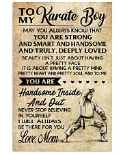 TO MY KARATE BOY - MOM 16x24 Poster front
