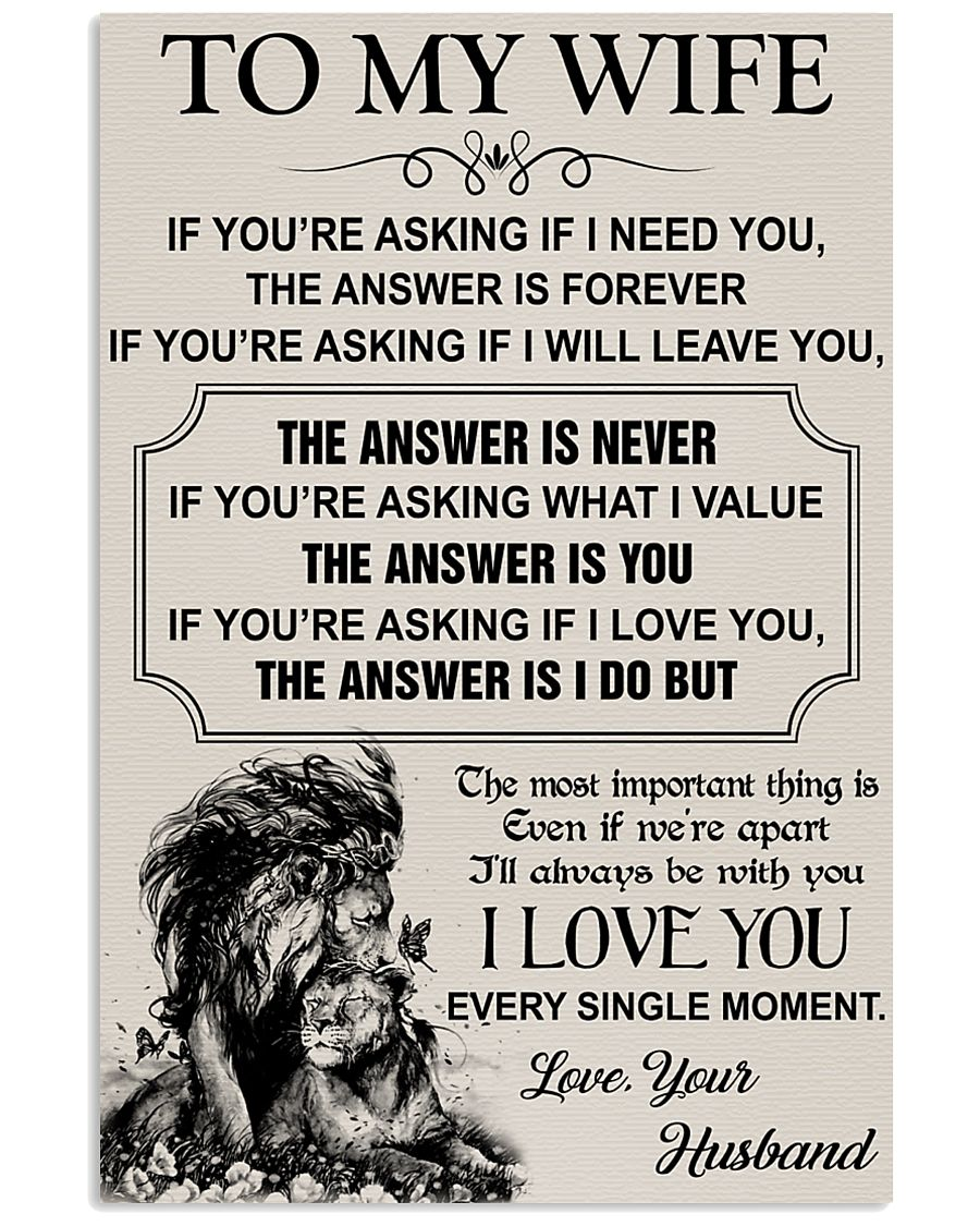 TO MY WIFE - I LOVE YOU 16x24 Poster