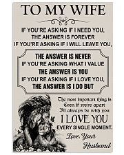 TO MY WIFE - I LOVE YOU 16x24 Poster front