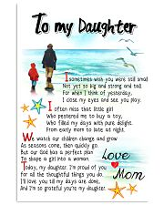 TO MY DAUGHTER - I SOMETIMES WISH 11x17 Poster front