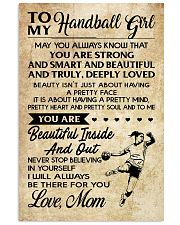 TO MY HANDBALL GIRL- MOM 16x24 Poster front