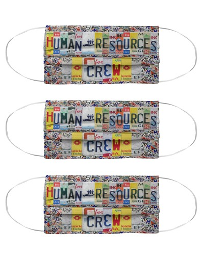 human resources crew license plates mask