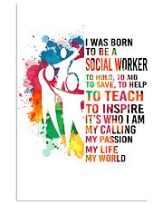 social worker- I WAS BORN 11x17 Poster front