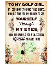 TO MY GOLF GIRL - YOU ARE TO ME 11x17 Poster front