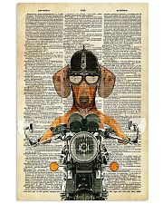 Dachshund  motocycle Dictionary Page Poster SKY 11x17 Poster front