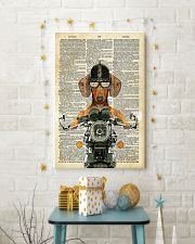 Dachshund  motocycle Dictionary Page Poster SKY 11x17 Poster lifestyle-holiday-poster-3