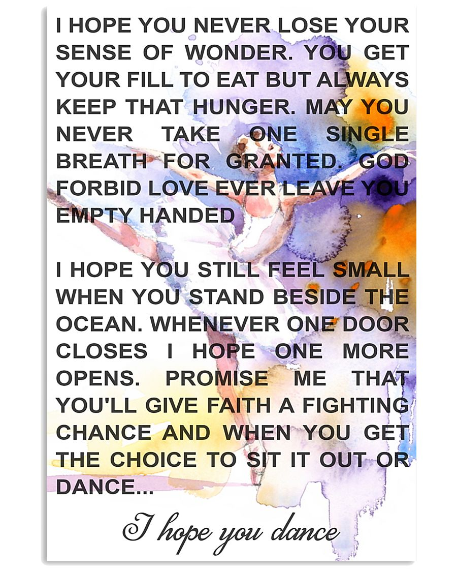 DANCE SONG POSTER 11x17 Poster