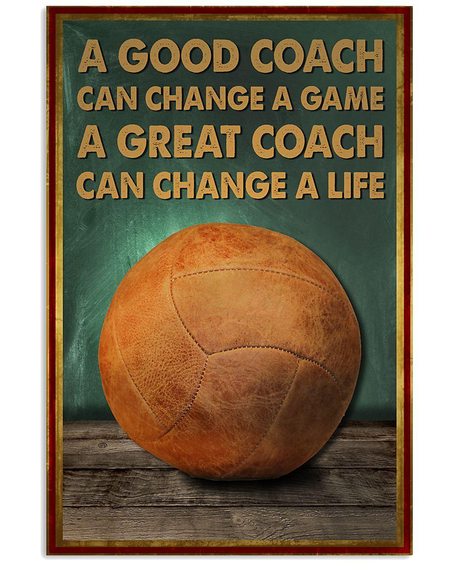 volleyball - a good coach poster - SR 11x17 Poster