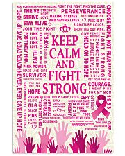 KEEP CALM AND FIGHT STRONG 16x24 Poster front