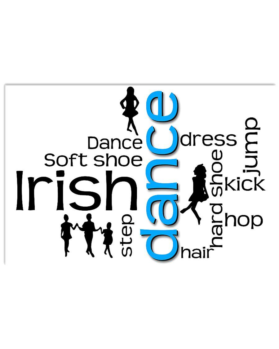 irish dance typo poster 2 17x11 Poster