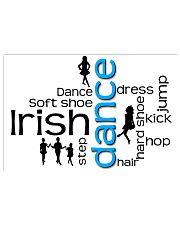 irish dance typo poster 2 17x11 Poster front
